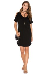 Lanston Open Shoulder Shirt Dress Black