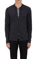 John Varvatos Star U.S.A. Zip Front Sweater Black