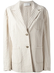Prada Vintage Striped Jacket Nude And Neutrals