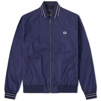 Fred Perry Sateen Bomber Jacket Blue
