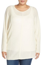 Plus Size Women's Sejour Wool And Cashmere Dolman Sleeve Sweater Ivory Cloud