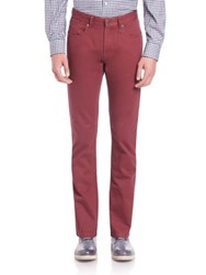 Saks Fifth Avenue Sulfur Dyed Pima Cotton Pants Red Blue