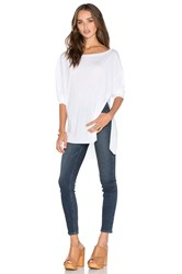 Twenty Perfect Modal Long Sleeve Tee White
