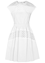Carven White Broderie Anglaise Cotton Dress