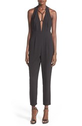 Women's Missguided Strappy Halter Crop Jumpsuit