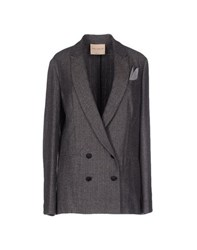 Erika Cavallini Semi Couture Erika Cavallini Semicouture Suits And Jackets Blazers Women Grey