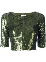 P.A.R.O.S.H. Cropped Jacket Green