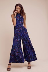 Anthropologie Butterfly Grove Jumpsuit Blue Motif