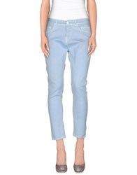 Twin Set Simona Barbieri Denim Denim Trousers Women Sky Blue