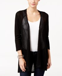 Styleandco. Style Co. Petite Open Front Cardigan Only At Macy's Deep Black