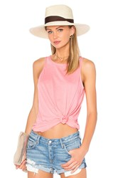 Chaser Open Back Flounce Tank Pink