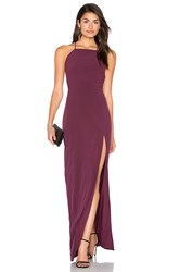 Donna Mizani Square Neck Maxi Dress Wine
