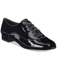 Nine West Zellah Lace Up Oxfords Women's Shoes Black Patent