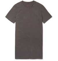 Rick Owens Drkshdw Slim Fit Brushed Cotton T Shirt Dark Gray