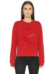 Love Moschino Cotton Jersey Sweatshirt W Heart