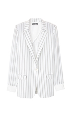 Tibi Striped Silk Blazer