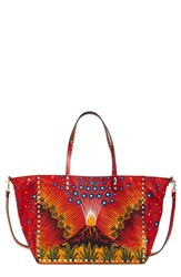 Valentino 'Small Rockstud Enchanted Wonderland' Reversible Printed Nylon Tote