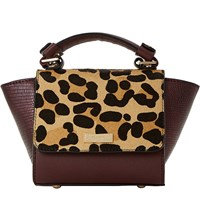 Dune Sandrine Leopard Print Micro Bag Leopard Leather