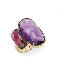 Marco Bicego Murano Amethyst Garnet And 18K Yellow Gold Ring Gold Multi