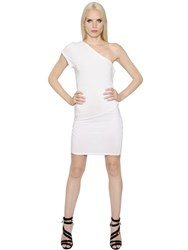 Alexandre Vauthier One Shoulder Draped Jersey Dress