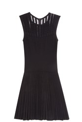 Alaia Lace Panelled Dress Black