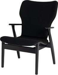 Artek Domus Birch Lounge Chair With Upholstered Seat And Back