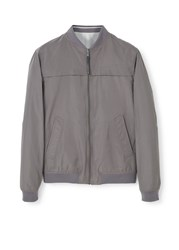 Mango Reversible Bomber Jacket Grey