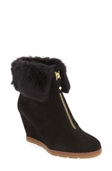 Kate Spade Women's 'Stasia' Faux Shearling Wedge Bootie