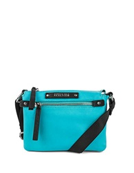 Kenneth Cole Reaction Bondi Girl Leather Crossbody Bag Turquoise
