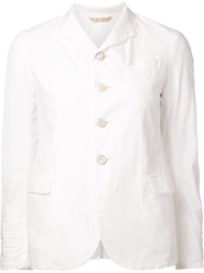Arts And Science Fitted Blazer White