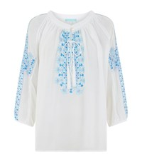 Melissa Odabash Embroidered Tunic Top Female White