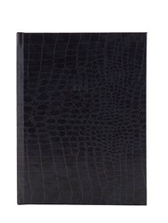 Fineandcandy Charcoal Embossed Faux Leather Notebook