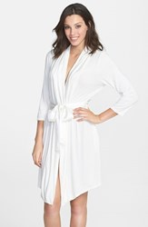 Fleurt Women's Fleur't 'Take Me Away' Short Robe Ivory