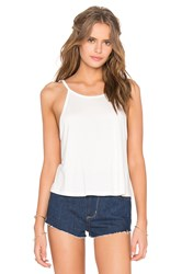 Blq Basiq High Neck Tank White
