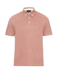 Dunhill Cotton And Silk Blend Pique Polo Shirt Red