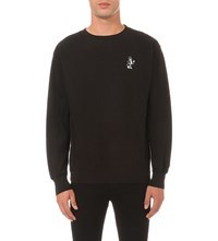 Born X Raised Snooty Fox Cotton Jersey Sweatshirt Black