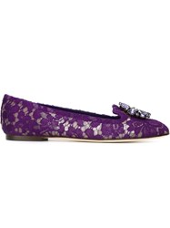 Dolce And Gabbana 'Vally' Slippers Pink And Purple