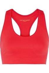 Lucas Hugh Technical Knit Stretch Sports Bra Red