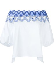 Peter Pilotto 'Pallas' Blouse White