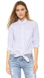 Madewell Tie Front Shirt Abbey Stripe