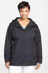 Columbia Plus Size Women's 'Splash A Little' Modern Classic Fit Waterproof Rain Jacket Black