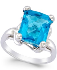 Macy's Blue Quartz Ring 7 Ct. T.W. In Sterling Silver