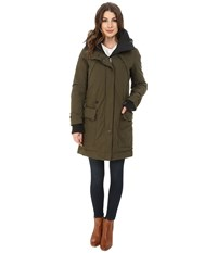 Rainforest Trench With Knit Detailing Olive Women's Coat