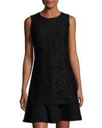 Nanette Nanette Lepore Sleeveless Sheath Dress With Lace Overlay Black