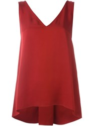 Theory V Neck Top Red
