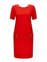 Wallis Red Lightweight Zip Dress