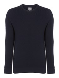 Linea Gill 3D Knit Crew Neck Navy
