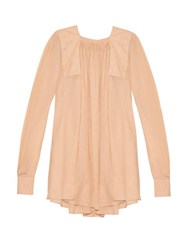 N 21 Voile Pleat Back Top Nude