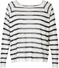 Soaked In Luxury Striped Jumper White