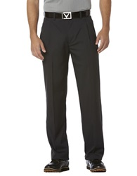 Callaway Chevron Pleated Pants Caviar